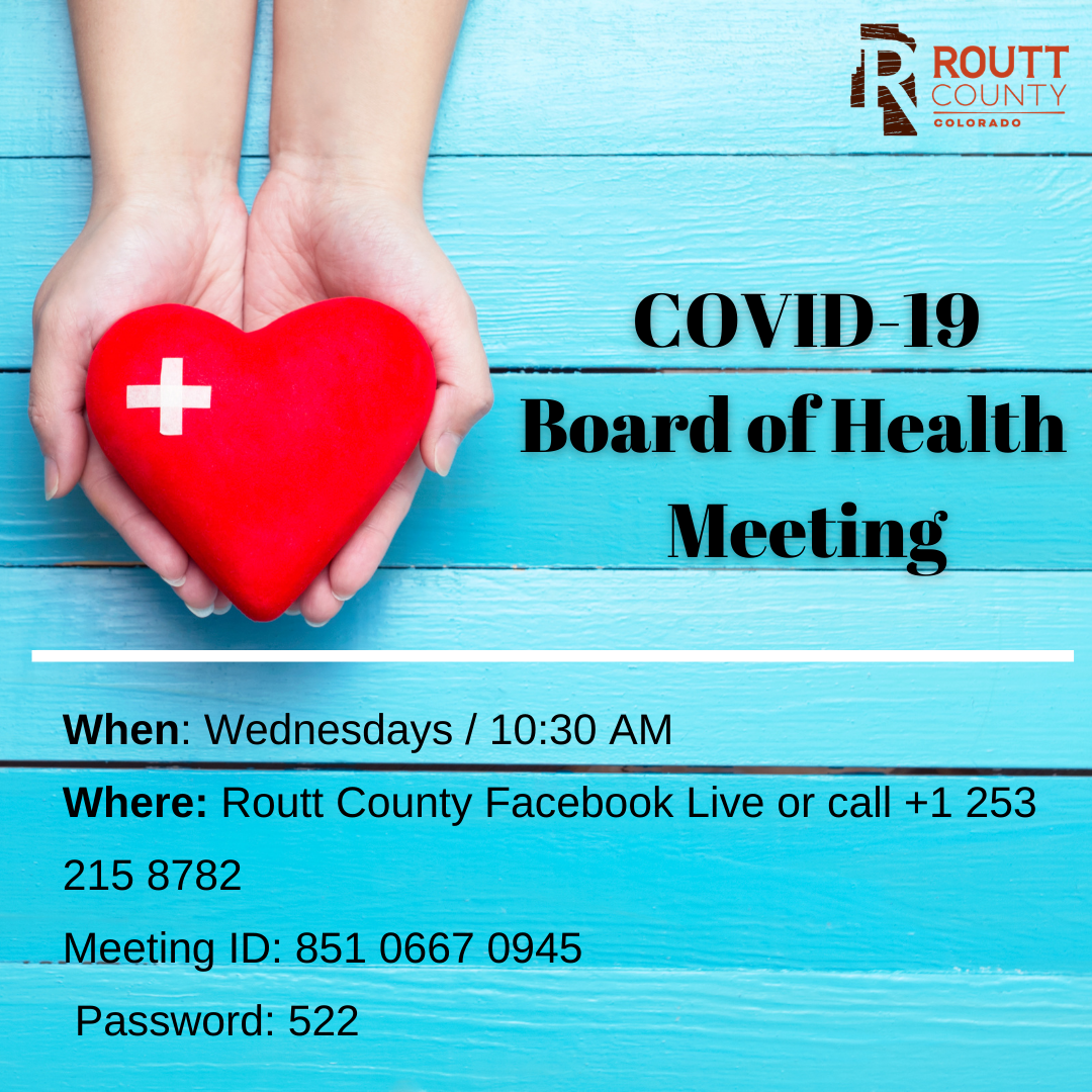 Routt County Board of Health Weekly Meetings heart image
