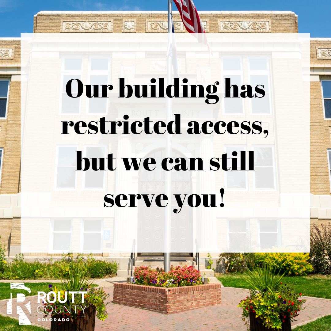 Our building has restricted access, but we can still serve you! County Building image